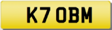 BM KT INITIALS  Private CHERISHED Registration Number Plate  OBM BMW